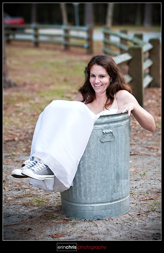 trash the dress picture in a trash can