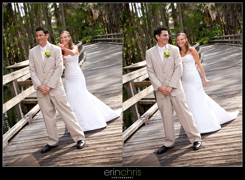 First look during a wedding at Saddlebrook Resort