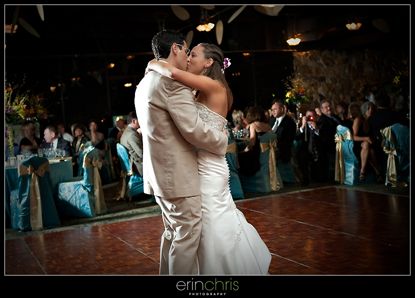 Wedding picture of first dance at Saddlebrook Resort