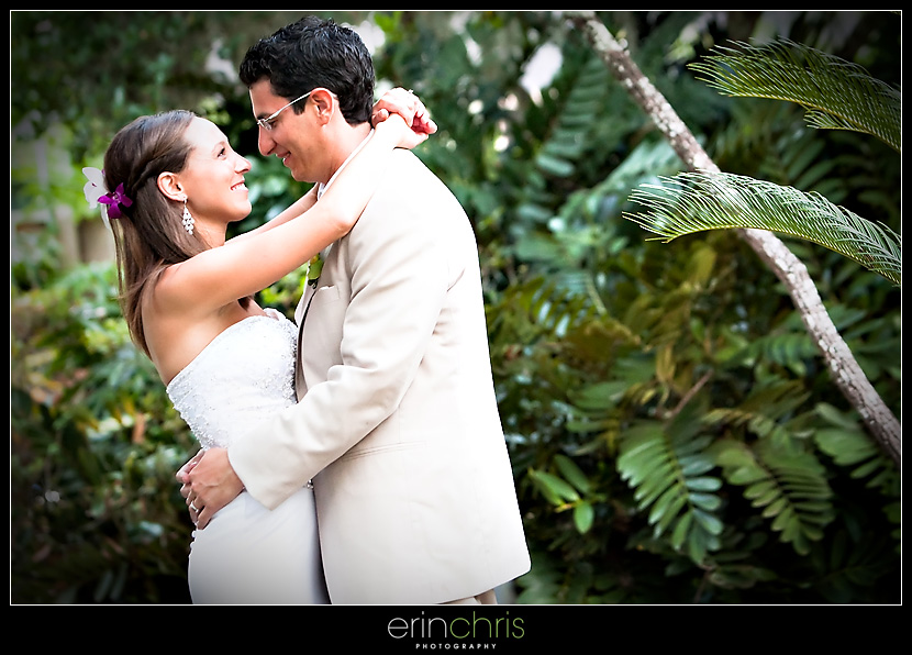 Wedding picture of bride and groom at Saddlebrook Resort