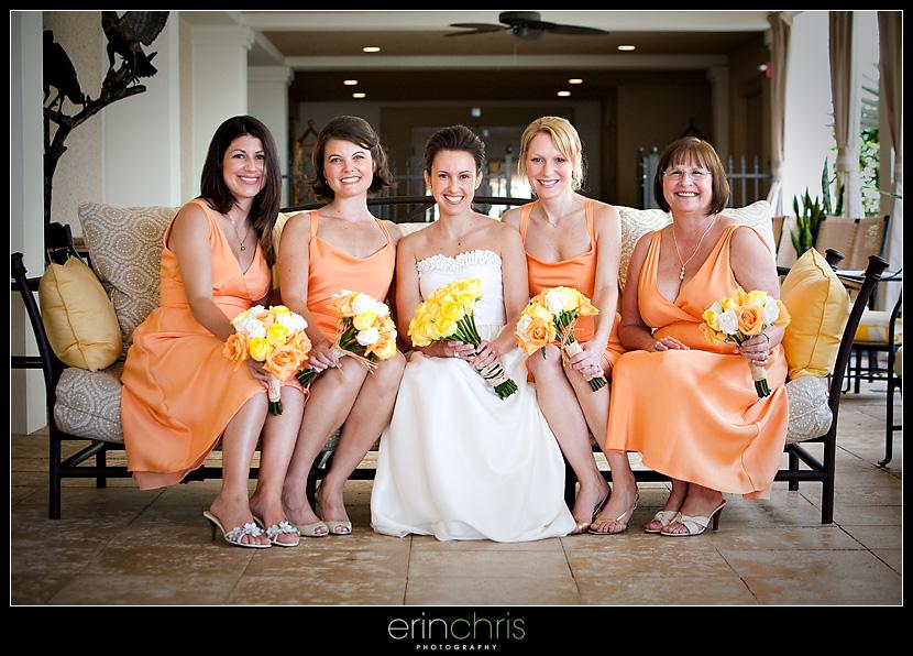 Photo of Bride and Bridesmaids at the Sandpearl Resort