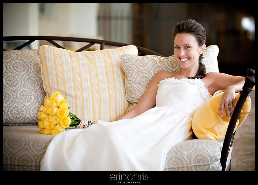 Bridal photo at the Sandpearl Resort