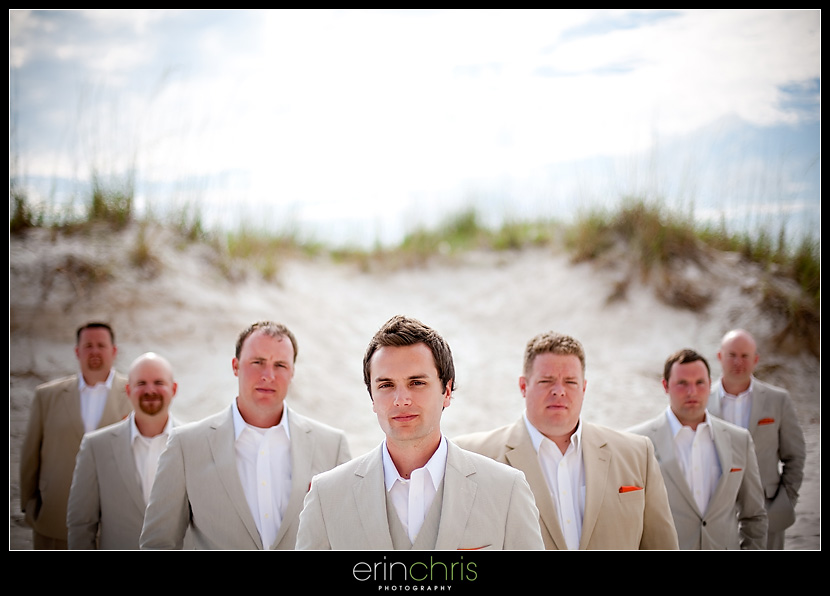 Super cool Groomsmen Wedding Photo at the Sandpearl Resort