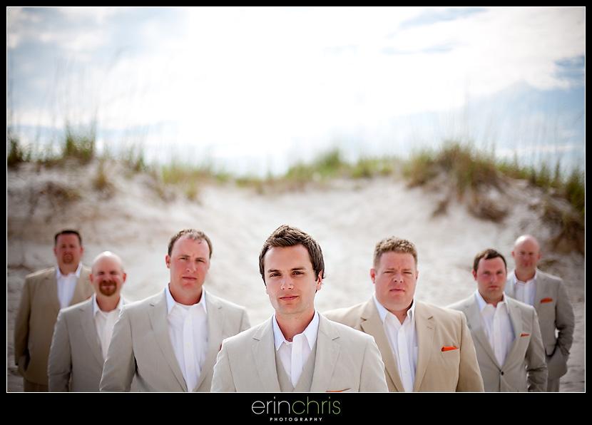 Super cool Groomsmen Wedding Photo at the Sandpearl Resort