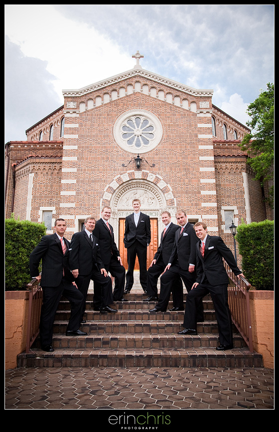 Groomsmen shot in front of in St. Petersburg, Florida.
