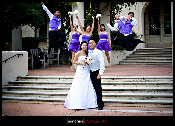 Orlando wedding party photos at Rollins College